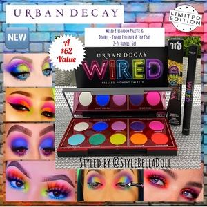 🔥Sale Urban Decay Wired Palette & Eyeliner Bundle